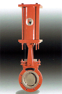 Electrically actuated knife gate valves are actuated by AUMA electric operators as a standard.